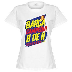 Barcelona Campion 8 de 11 Womens Tee - White