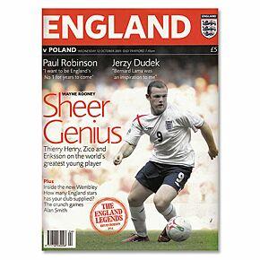 England vs Poland World Cup 2006 Qualifier Program - Oct. 12, 2005