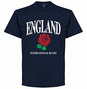 England Rose International Rugby Tee - Navy