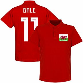 Wales, Golf, Madrid, In That Order Bale 11 Polo Shirt - Red