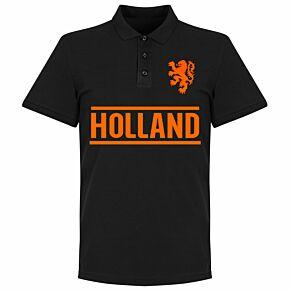 Holland Team Polo Shirt - Black