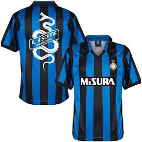 1990 Inter Milan Home Retro Shirt + Biscione Snake Print