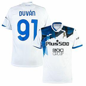 20-21 Atalanta Away Shirt + Duván 91 (Official Printing)