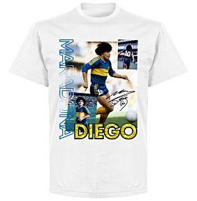 Diego Maradona Old Skool T-shirt - White
