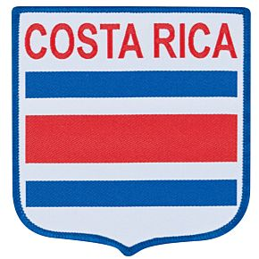 Costa Rica Embroidery Patch 9cm x 8.5cm