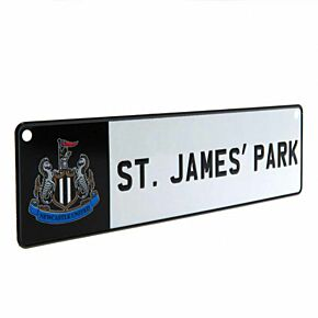 Newcastle Utd Number Plate Window Sign (26 x 7cm Approx)