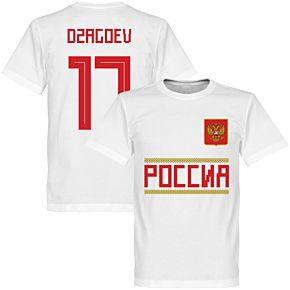 Russia Dzagoev 17 Team Tee - White