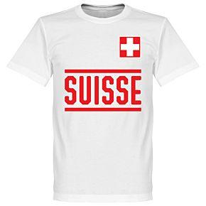 Switzerland Team Tee - White