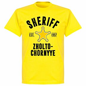 Sheriff Established T-shirt - Lemon Yellow