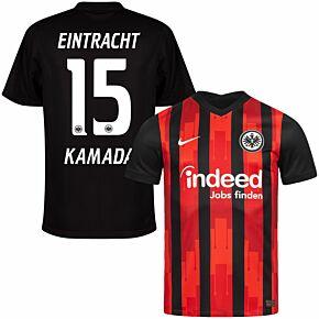 20-21 Eintracht Frankfurt Home Shirt + Kamada 15 (Official Printing)