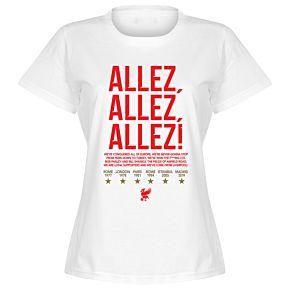 Liverpool Allez Allez Allez Womens T-Shirt - White