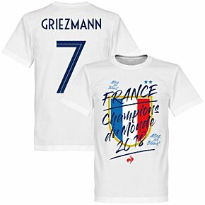 France Champion du Monde Griezmann 7 Tee - White