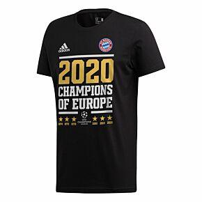 2020 Bayern Munich Official C/L Winners T-Shirt - Black