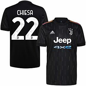 21-22 Juventus Away Shirt + Chiesa 22 (Official Printing)