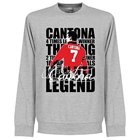 Cantona Legend Sweatshirt - Grey