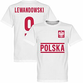 Poland Lewandowski 9 Team KIDS Tee - White