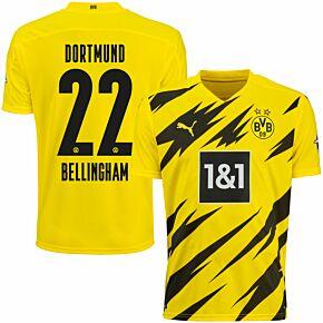 20-21 Borussia Dortmund Home Shirt + Bellingham 22