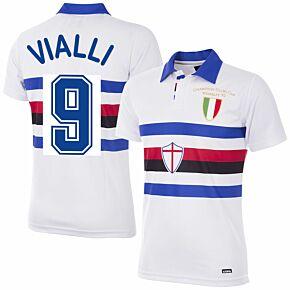 91-92 Sampdoria Away Retro Shirt + Vialli 9 (Retro Flex Printing)