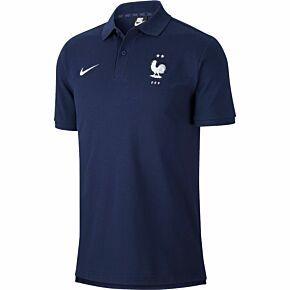 20-21 France Pique Polo Shirt - Navy