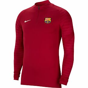 21-22 Barcelona 1/4 Zip L/S Drill Top - Red