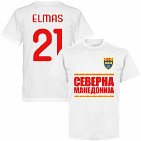 North Macedonia Elmas 21 Team T-shirt - White