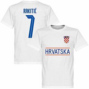 Croatia Rakitic 7 Team KIDS T-shirt - White