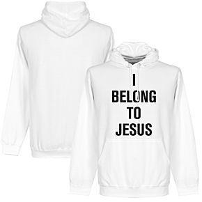 I Belong to Jesus Hoodie - White