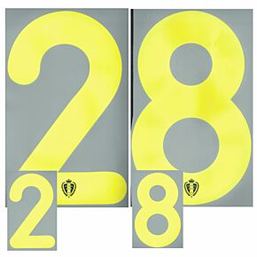 Belgium Home/Away Individual Official Front & Back Number Sets 2014 / 2015
