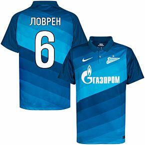 20-21 Zenit St Petersburg Home Shirt + Lovren 6 (Cyrllic Fan Style)