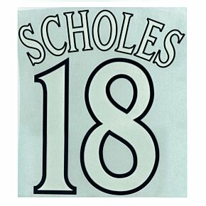 Scholes 18 - 99-00 C/L Style Flock Name and Number Transfer