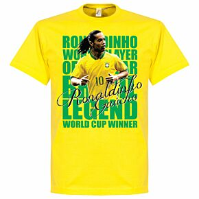 Ronaldinho Legend Tee - Yellow