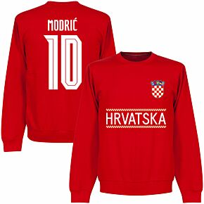 Croatia Modric 10 Team Sweatshirt - Red