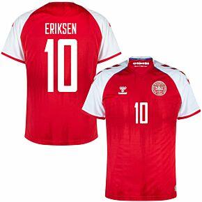 21-22 Denmark Home Shirt + Eriksen 10 (Fan Style)