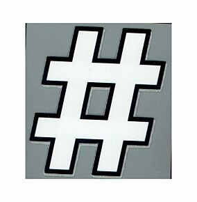 20-21 Premier League Official Adult Hashtag Symbol - White