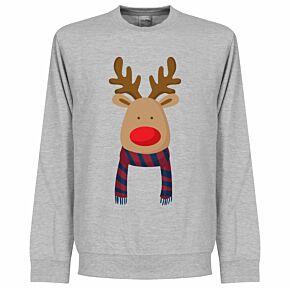 Reindeer Barca Supporters Sweatshirt - Grey