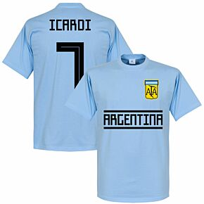 Argentina Icardi 7 Team Tee - Sky