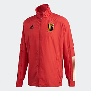 19-20 Belgium Pre-Match Jacket - Red