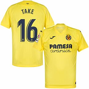 20-21 Villarreal Home Shirt + Take 16 (Official Printing)