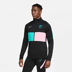 20-21 Barcelona I96 Anthem Jacket - Black/Pink