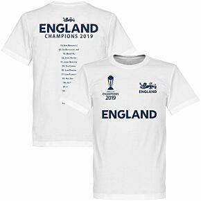 England Cricket World Cup Winners Squad Tee - White