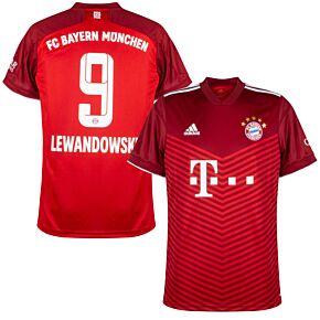 21-22 FC Bayern Munich Home Shirt + Lewandowski 9 (Official Printing)