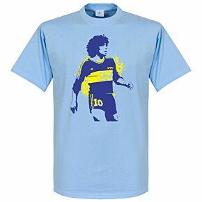 Boca Maradona Tee - Sky