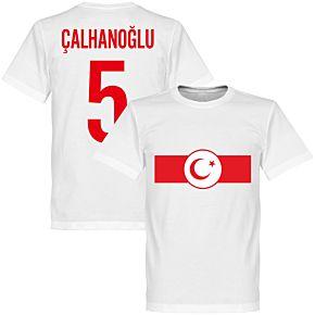 Turkey Banner Calhanoglu 5 Tee - White
