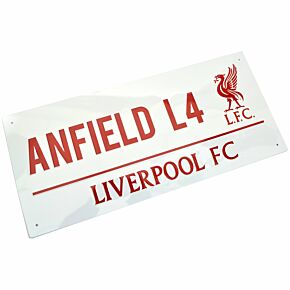 Liverpool Anfield L4 Metal Street Sign - Approx 40cm x 18cm