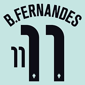 B.Fernandes 11 (Official Printing) - 20-21 Portugal Away