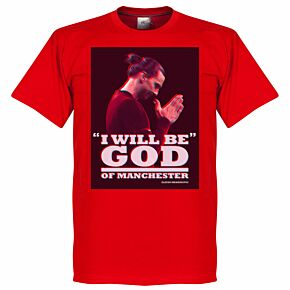 Zlatan God of Manchester Tee - Red
