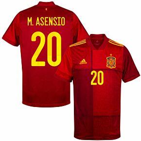 20-21 Spain Home Shirt + M. Asensio 20
