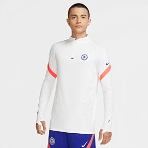 20-21 Chelsea Vaporknit Strike UCL Drill Top - White