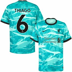 20-21 Liverpool Away Shirt + Thiago 6 (Premier League)