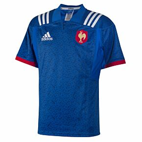 17-18 France Home Rugby Shirt